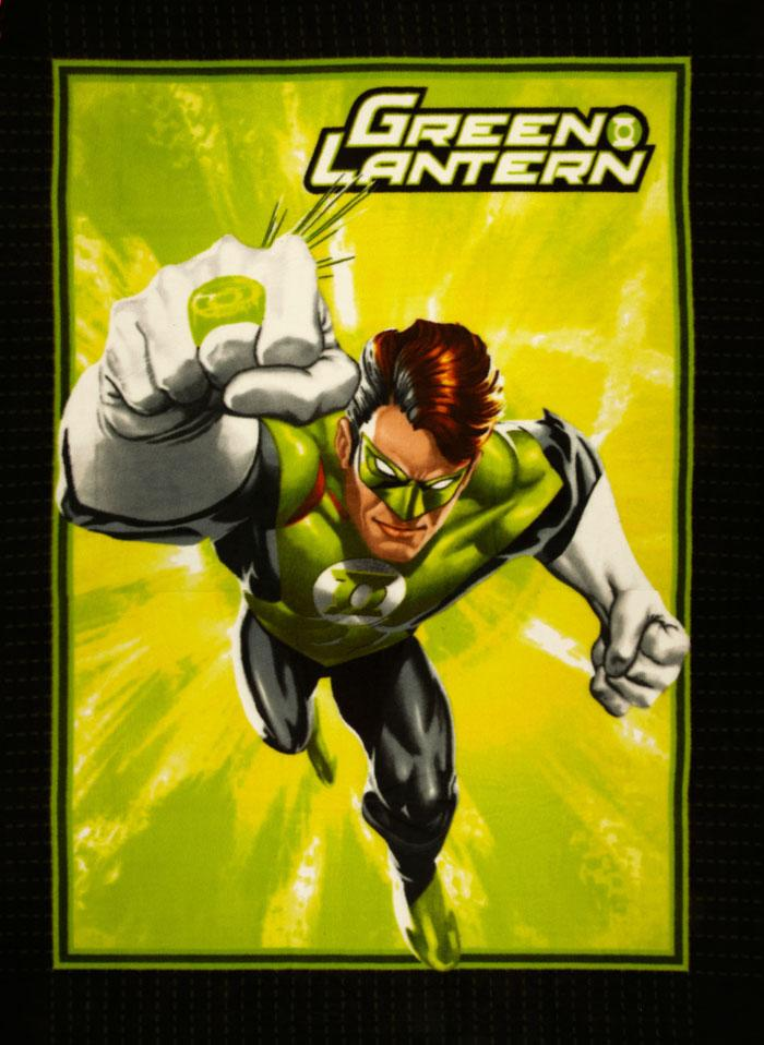 No Sew Fleece Throw Kit Green Lantern