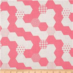 Michael Miller Textured Basics Hexies Salmon