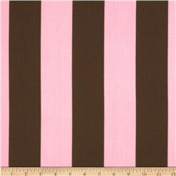 Caymans Indoor/Outdoor Deck Stripe Pink/Brown