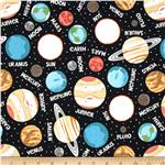 210857 Outer Space Glow In The Dark Planets Black