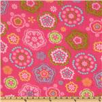 WinterFleece Floral Kaleidoscope Pink