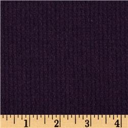 Wool Blend Coating Ribbed Purple