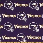 CK-195 NFL Cotton Broadcloth Minnesota Vikings Purple/Yellow