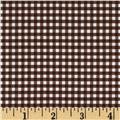 Riley Blake Small Gingham Brown