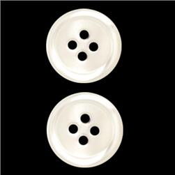 Genuine Shell Button 5/8'' Rim Pearl White