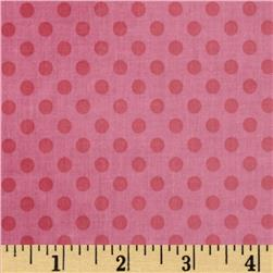 Riley Blake Laminated Cotton Small Dots Tone on Tone Hot Pink