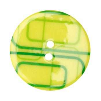 Fashion Button 1-3/8&#39;&#39; Confetti Rectangles Lime