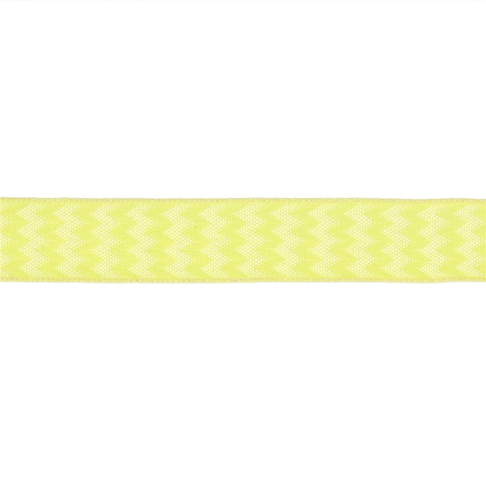 "5/8"" Chevron Stripe Wired Ribbon Yellow"
