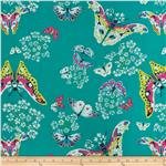 204707 Amy Butler Alchemy Queen Ann's Butterflies Topaz