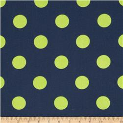 Caymans Indoor/Outdoor Polka Dot Navy/Lime