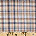 0264951 Prepster Yarn Dyed Shirting Plaid Tan/Navy