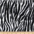 "Fanci Felt 9'' x 12"" Cut Craft Felt Zebra Black/White"
