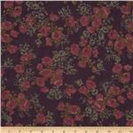 Maribel Voile Floral Dark Purple/Pink