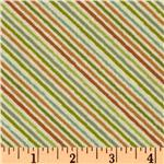 Nighty Night Owl Diagonal Stripe Green