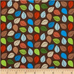 Into the Woods Flannel Tossed Leaves Brown/Multi