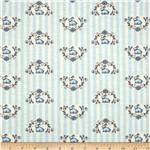 Moda Windsor Lane Bunny Stripe Blue