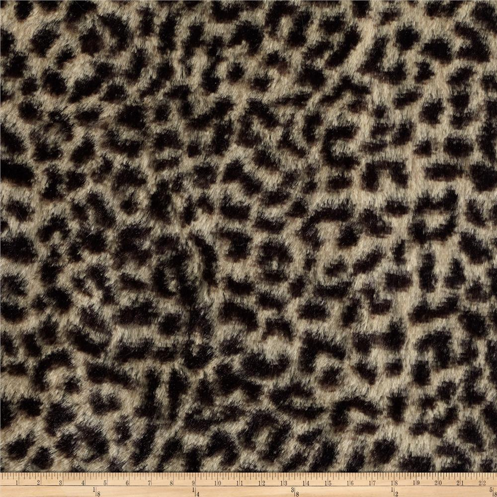 Minky Cuddle Cheetah Brown/Tan