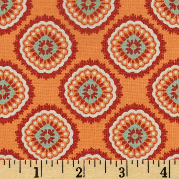 Riley Blake Avignon Damask Orange