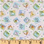 Gingham Safari Tossed Animal Patches Pink