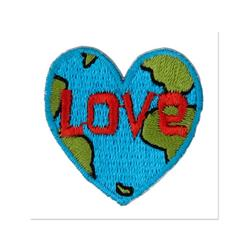 Boutique Applique Love Earth Blue/Green/Orange