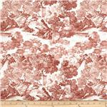 Juliette's Garden Toile Brick Red