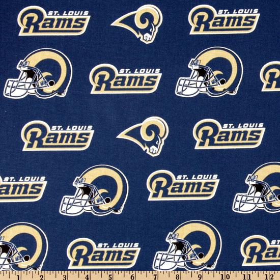 NFL Cotton Broadcloth St. Louis Rams Navy/Gold