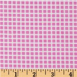 Michael Miller Cute Zoo Plaid Pink