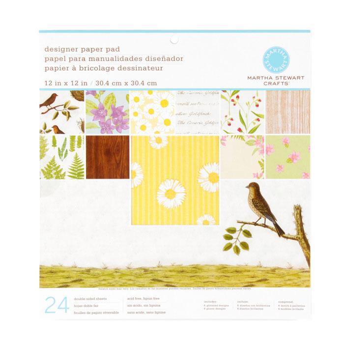 "Martha Stewart Crafts Designer Paper Pad 12"" X 12"" Nature"