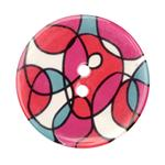 Novelty Button 1-3/8'' Interlinking Circles Mulit