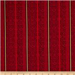 Festive Holiday Gracious Stripe Red/Burgundy