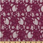 Xanna Floral Lace Fabric Red Violet