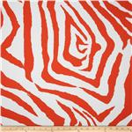 Premier Prints Indoor/Outdoor Zebra Salmon