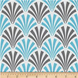 Design Studio Deco Fans Blue Gray