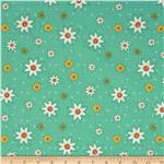 0274294 Marmalade Cottage Daisies All Over Teal