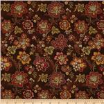 218265 Hampton Farm Large Floral Brown