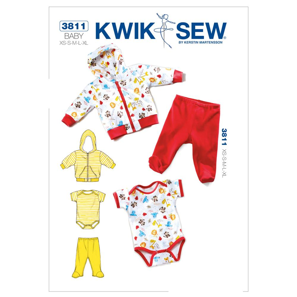 Kwik Sew Babies Jacket, Pants &amp; Romper Pattern