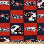 DL-964 NFL Fleece New England Patriots Squares Blue/Red