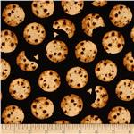 0296201 Timeless Treasures Chocolate Chip Cookies Black