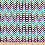 0291841 Punch Garden Flannel Mod Chevron Stripes Bright Blue/Green