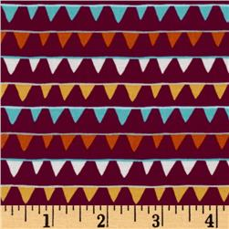 Festive Forest Party Banner Flags Burgundy