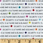 Peanuts-Project Linus Security Blanket Words White
