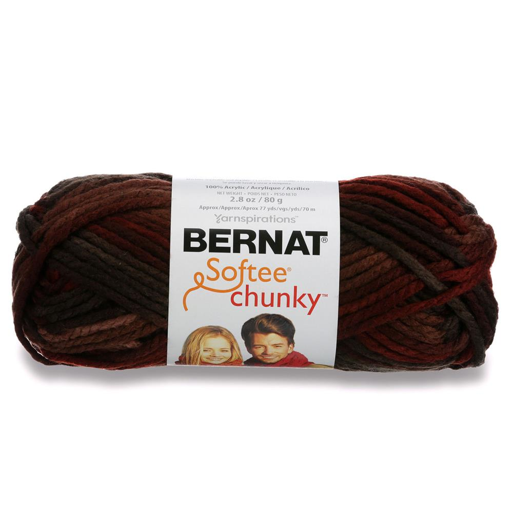 Bernat Softee Chunky Yarn (29013) Terra Cotta Mist