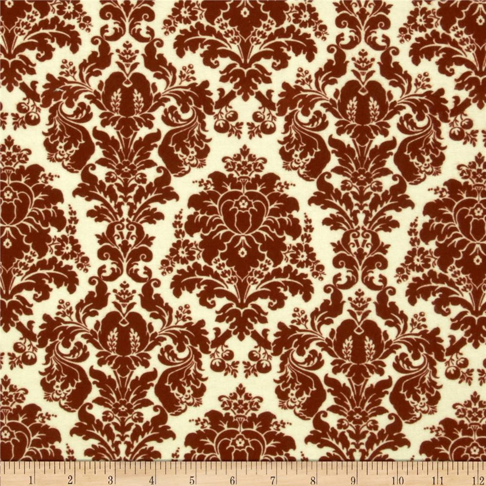 Chenonceau Flannel Damask Red