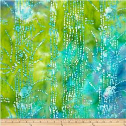Indian Batik Abstract Blue/Green
