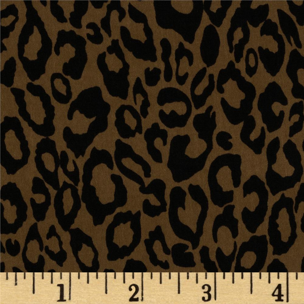 Stretch Jersey ITY Knit Mini Leopard Brown/Black