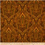 0274363 Renaissance Garden Paisley Mustard