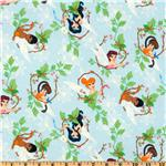 Disney Flannel Fairies Spring Celebration Blue
