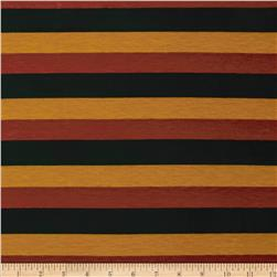 Stretch Jersey Knit Spendid Stripe Gold/Rust