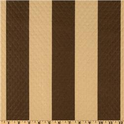 Waverly Sun N Shade Quilted Solstice Stripe Chocolate