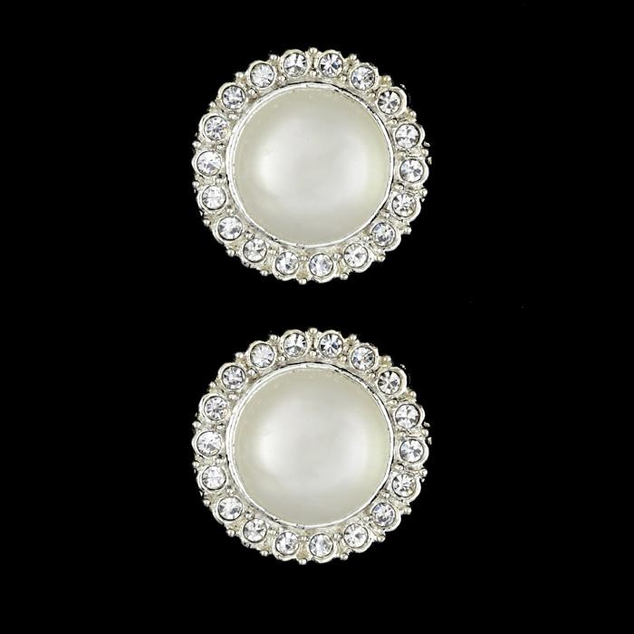 Metal Button 7/8'' Selene Moonstone